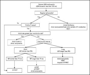 Diagnostic tree narrow tachycardia